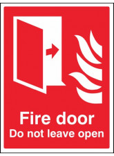 Fire door Do not leave open