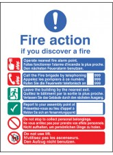 Multi-lingual Fire Action Manual Lift