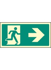 Intermediate Fire Exit Marker - Arrow Right