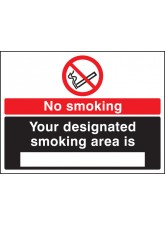 No Smoking Designated Smoking Area Is (white/black)