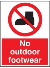 No Outdoor Footwear