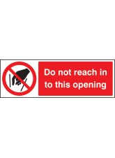 Do Not Reach in to this Opening