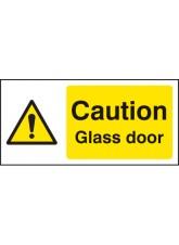 Caution Glass Door