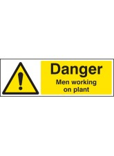 Danger Men Working on Plant