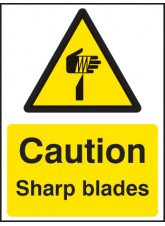 Caution Sharp Blades