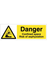 Danger Confined space Risk of asphyxiation