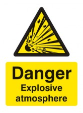 Danger Explosive Atmosphere BS5499