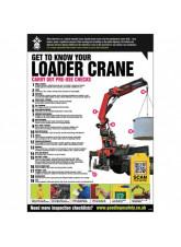 Loader Crane Inspection Checklist Poster (A2)