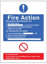General Fire Action - Adapt-a-Sign
