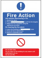 General Fire Action with Lift - Adapt-a-Sign
