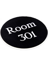 Engraved Sign with Adhesive Back - Black