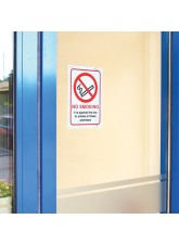 No Smoking Double Sided Window Sticker