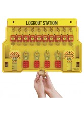 Lockout Station - 10 Lock Capacity - Includes Contents