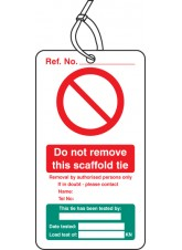 10 x Scaffold Tie Test - Double Sided Tags