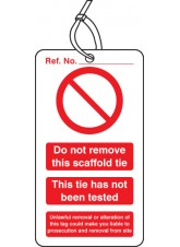 10 x Scaffold Tie Do Not Remove - Double Sided Tags