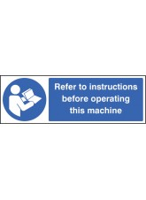 Refer to Instructions Before Operating this Machine