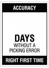 Accuracy … Days without a picking error - 450x600mm rigid PVC with wipe clean over laminate