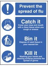 Prevent the Spread of Flu - Catch It Bin It Kill It