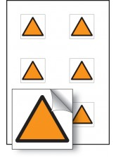 6 x Orange Triangle Vibration Safety - 25 x 25mm