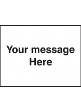 Door Screen Sign- Your Message Here - 600 x 450mm