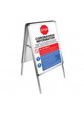 A2 Double-sided A-Frame with two Coronavirus Posters