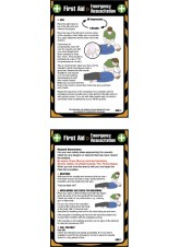 First Aid Emergency Resuscitation - Pocket Guide - 80 x 120mm