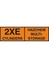 2XE Multi Cylinder Storage Placard Aluminium