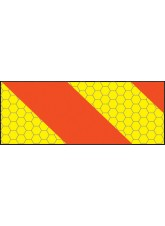 ECE70 Vehicle Marking Plate - Right Hand Horizontal Chevron - 300 x 140mm