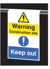 Roll Top - Warning Construction Site - Keep Out