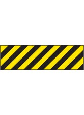 Hazard Marker (Left Hand) - Reflective Aluminium - 600 x 150mm