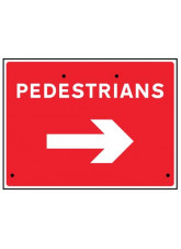 Re-Flex Sign - Pedestrians arrow right