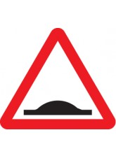 Road Hump Ahead - Class RA1 - 600mm Triangle