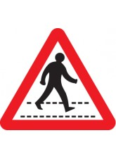 Pedestrians Crossing Ahead Class - RA1 600mm