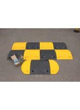Speed Bump: 75mm Inner Segment Yellow HxWxD: 75 x 500 x 480mm with Fixings