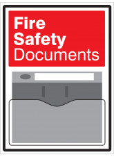 Fire Safety Document Holder Sign