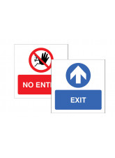 Exit / No Entry Double Sided Window Sticker