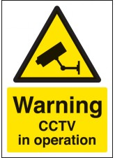A4 Warning CCTV in Operation