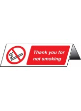Thank You for Not Smoking Table Cards (Pack of 5)