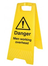 Danger Men Working Overhead - Self Standing Folding Sign