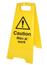 Caution Men At Work - Self Standing Folding Sign