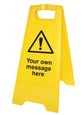 Your Message Here - Self Standing Folding Sign