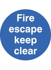 Fire Escape Keep Clear - Floor Graphic