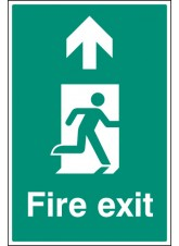 Fire Exit - Up / Straight on - Floor Graphic
