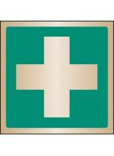 First Aid Symbol - Brass