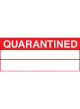 Roll of 100 Quarantined Labels - 50 x 20mm