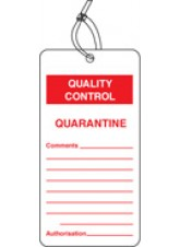 QC Tag - Quarantine (Pack of 10)