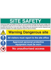 Site Safety - Visitors - Access - Protective Clothing