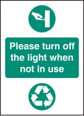 Please Turn Off Light When Not in use