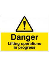 Danger - Lifting Operations in Progress