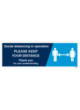 Social Distancing in Operation - 1m / 2m / Generic Distance Options
